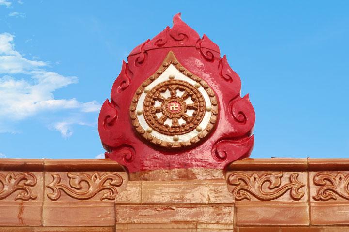 吉祥寶聚寺的法輪寶頂
